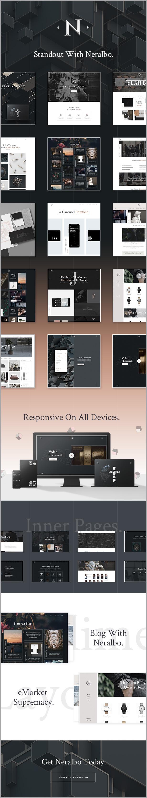 Neralbo - Creative Multi-concept Theme - 1